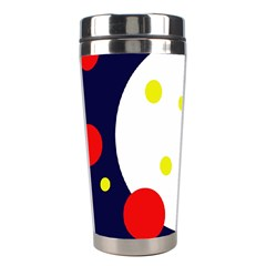 Abstract moon Stainless Steel Travel Tumblers