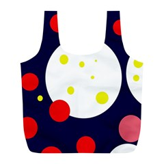 Abstract moon Full Print Recycle Bags (L)