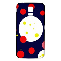 Abstract moon Samsung Galaxy S5 Back Case (White)