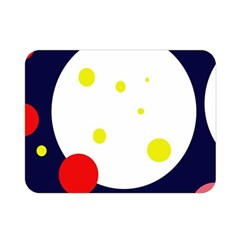 Abstract moon Double Sided Flano Blanket (Mini)