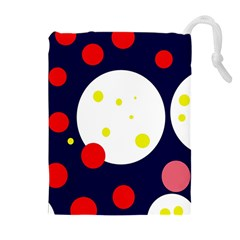 Abstract moon Drawstring Pouches (Extra Large)