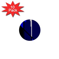 Blue abstraction 1  Mini Buttons (10 pack)