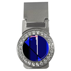 Blue abstraction Money Clips (CZ)