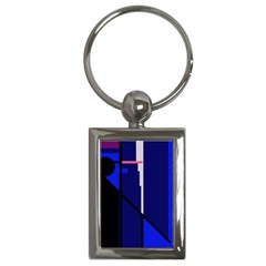 Blue abstraction Key Chains (Rectangle)