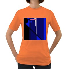 Blue abstraction Women s Dark T-Shirt