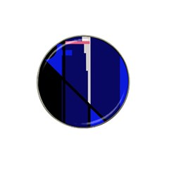 Blue abstraction Hat Clip Ball Marker (4 pack)