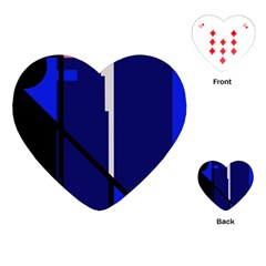 Blue abstraction Playing Cards (Heart)