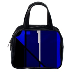 Blue abstraction Classic Handbags (One Side)