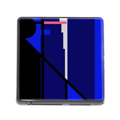 Blue abstraction Memory Card Reader (Square)