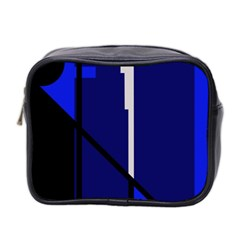 Blue abstraction Mini Toiletries Bag 2-Side