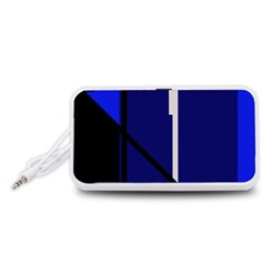 Blue abstraction Portable Speaker (White)
