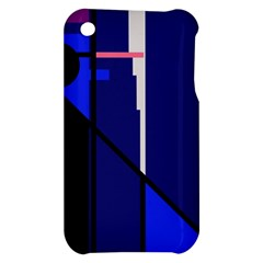 Blue abstraction Apple iPhone 3G/3GS Hardshell Case