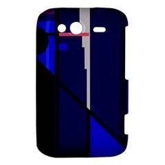 Blue abstraction HTC Wildfire S A510e Hardshell Case