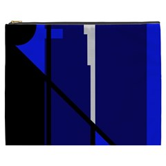 Blue abstraction Cosmetic Bag (XXXL)