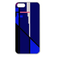 Blue abstraction Apple Seamless iPhone 5 Case (Clear)