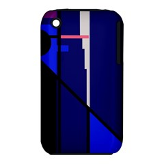 Blue abstraction Apple iPhone 3G/3GS Hardshell Case (PC+Silicone)