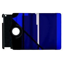 Blue abstraction Apple iPad 2 Flip 360 Case