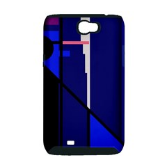 Blue abstraction Samsung Galaxy Note 2 Hardshell Case (PC+Silicone)