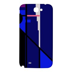 Blue abstraction Samsung Note 2 N7100 Hardshell Back Case