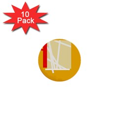 Basketball 1  Mini Buttons (10 pack)