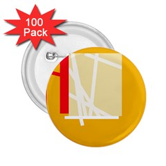 Basketball 2.25  Buttons (100 pack)