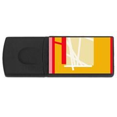 Basketball USB Flash Drive Rectangular (2 GB)