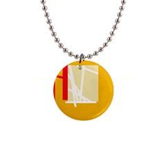 Basketball Button Necklaces