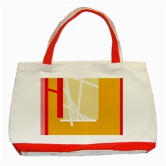 Basketball Classic Tote Bag (Red)