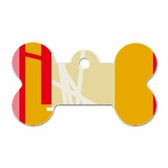 Basketball Dog Tag Bone (One Side)