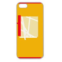 Basketball Apple Seamless iPhone 5 Case (Clear)