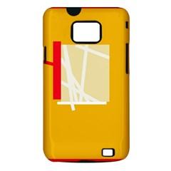 Basketball Samsung Galaxy S II i9100 Hardshell Case (PC+Silicone)