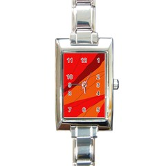 Red and orange decorative abstraction Rectangle Italian Charm Watch