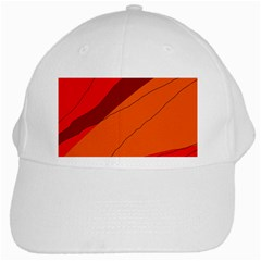 Red and orange decorative abstraction White Cap