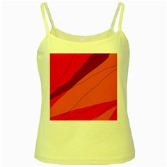 Red and orange decorative abstraction Yellow Spaghetti Tank