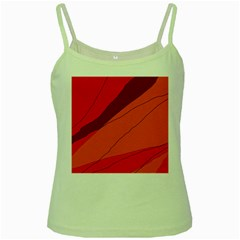 Red and orange decorative abstraction Green Spaghetti Tank