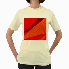 Red and orange decorative abstraction Women s Yellow T-Shirt