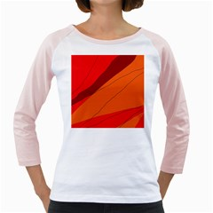 Red and orange decorative abstraction Girly Raglans