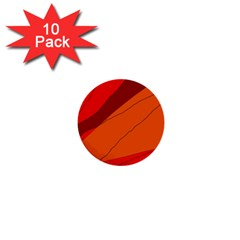 Red and orange decorative abstraction 1  Mini Buttons (10 pack)