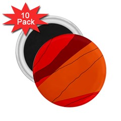 Red and orange decorative abstraction 2.25  Magnets (10 pack)