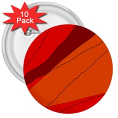 Red and orange decorative abstraction 3  Buttons (10 pack)