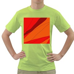 Red and orange decorative abstraction Green T-Shirt