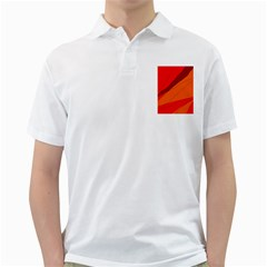 Red and orange decorative abstraction Golf Shirts