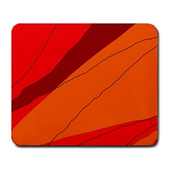 Red and orange decorative abstraction Large Mousepads