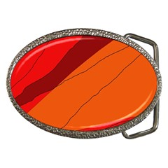Red and orange decorative abstraction Belt Buckles