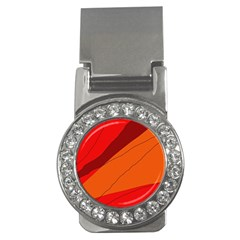Red and orange decorative abstraction Money Clips (CZ)