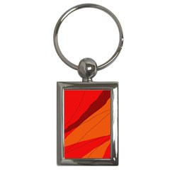 Red and orange decorative abstraction Key Chains (Rectangle)