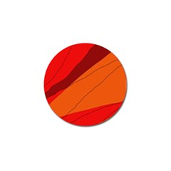 Red and orange decorative abstraction Golf Ball Marker (4 pack)