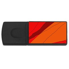 Red and orange decorative abstraction USB Flash Drive Rectangular (2 GB)