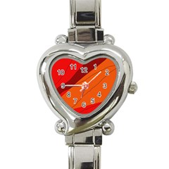 Red and orange decorative abstraction Heart Italian Charm Watch