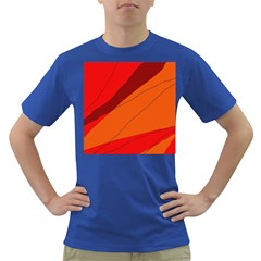 Red and orange decorative abstraction Dark T-Shirt